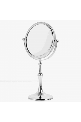 10x/1x Reversible Large Column Stem Vanity Makeup Mirror, D808 by Danielle Creations