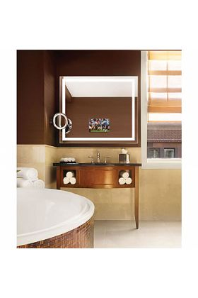 """Electric Mirror Integrity TV Lighted Mirror with 21.5"""" TV that """"Disappears"""" When Turned Off, 6 sizes"""